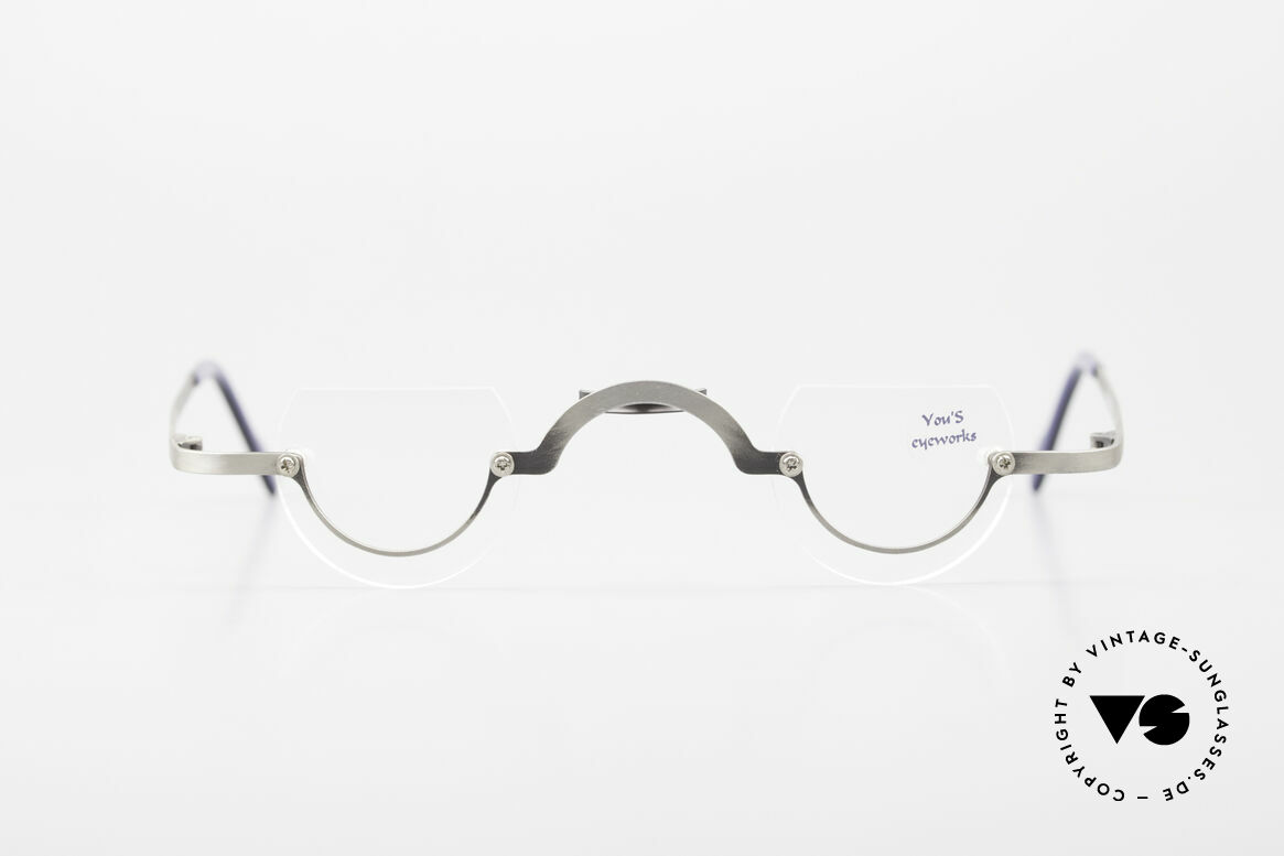 You's Eyeworks 41 Crazy Vintage Reading Glasses, artistic frame: 'opposite pole' to the 'mainstream', Made for Men and Women