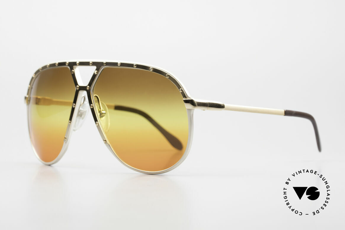 Alpina M1 80's Sunglasses West Germany, silber frame with GOLD-plated cover and temples, Made for Men
