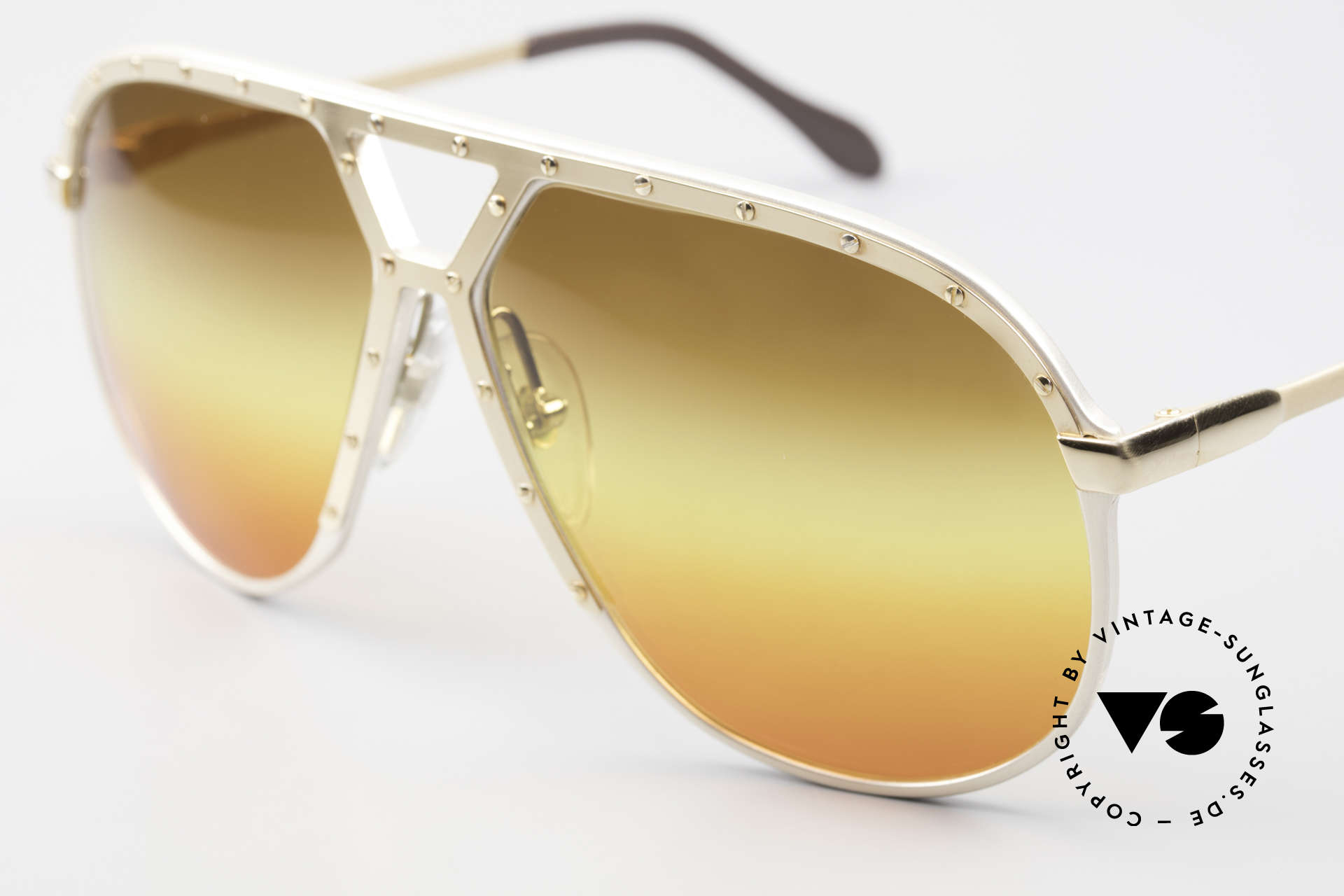 Alpina M1 80's Sunglasses West Germany, customized triple-gradient sun lenses 'desert sun', Made for Men
