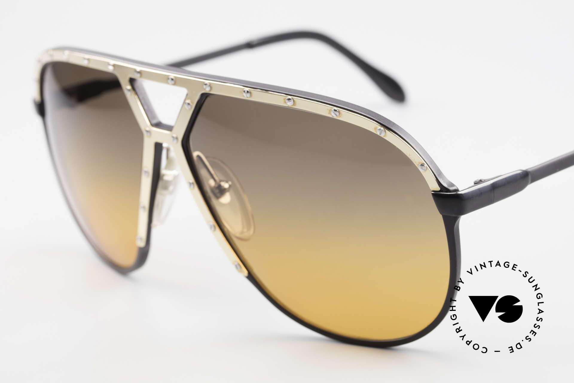 Alpina M1 80's XL Aviator Sunglasses, unique double-gradient sun lenses 'desert storm', Made for Men
