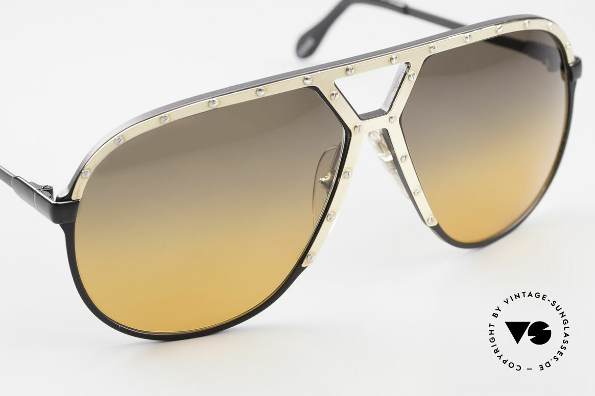 Alpina M1 80's XL Aviator Sunglasses, unworn collector's item comes with a Porsche case, Made for Men