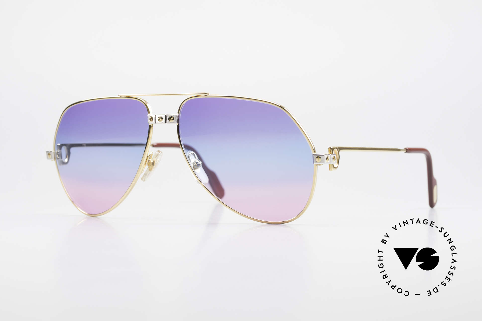 Cartier Vendome Santos - M One Of A Kind 80's Collectible, Vendome = the most famous eyewear design by CARTIER, Made for Men and Women