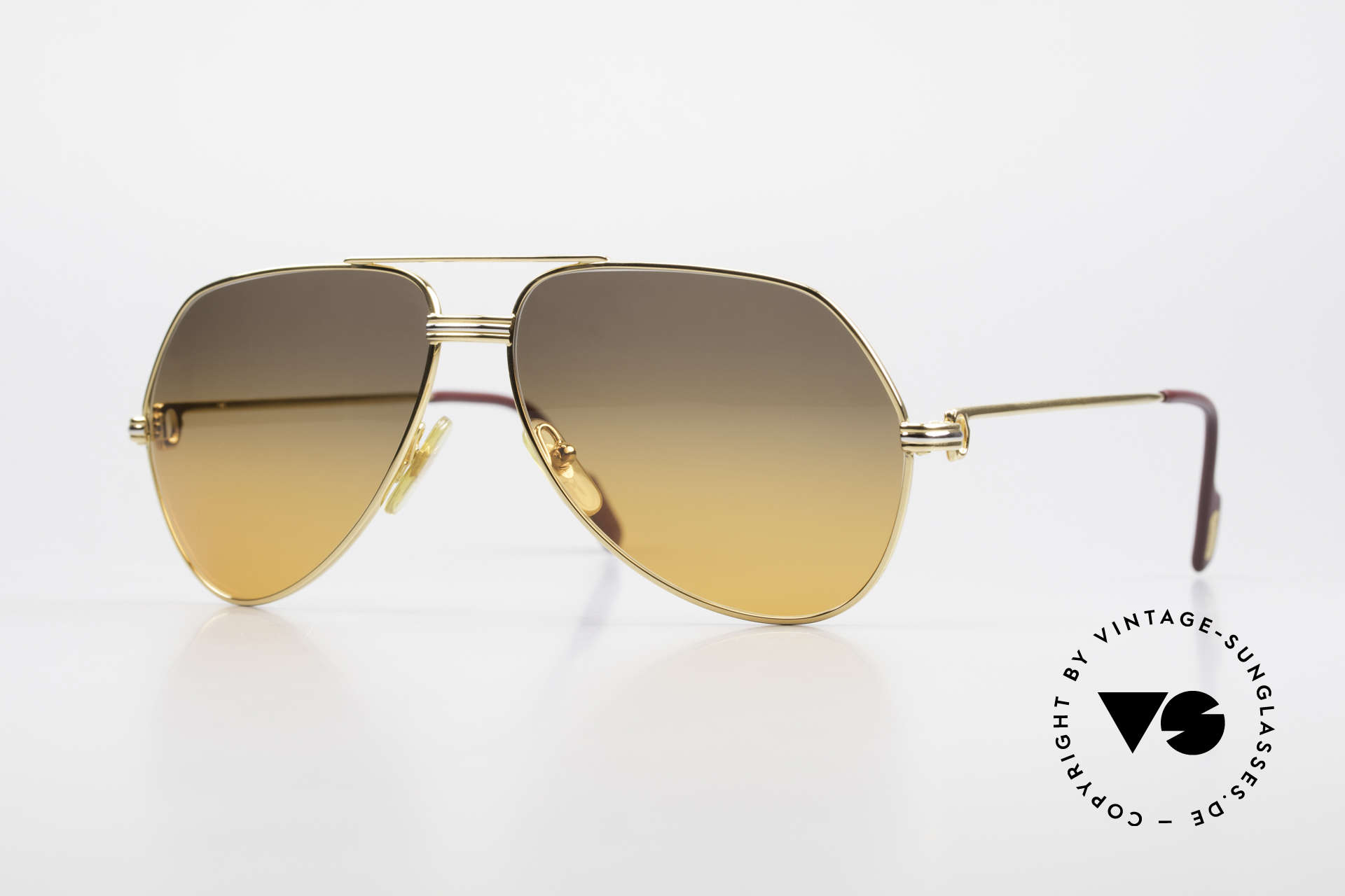 Cartier Vendome LC - M Movie Sunglasses Wall Street, Vendome = the most famous eyewear design by CARTIER, Made for Men and Women