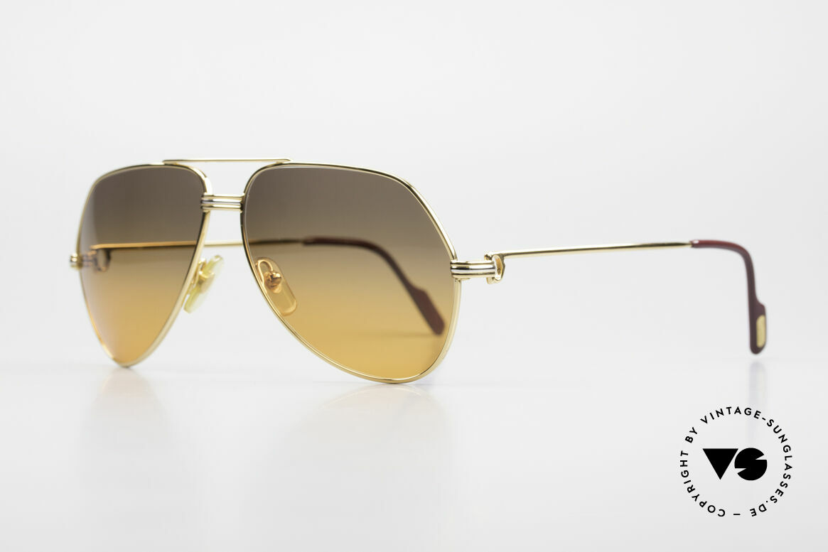 Cartier Vendome LC - M Movie Sunglasses Wall Street, this pair (with L.Cartier decor): MEDIUM size 59-14,140, Made for Men and Women