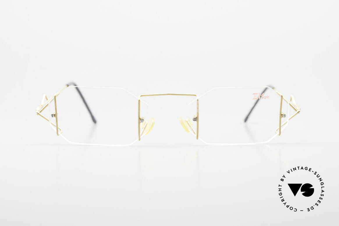 Z Mark 9 Artful 90's Rimless Eyeglasses, mod. 9 in size 51/19, something really different, Made for Men and Women