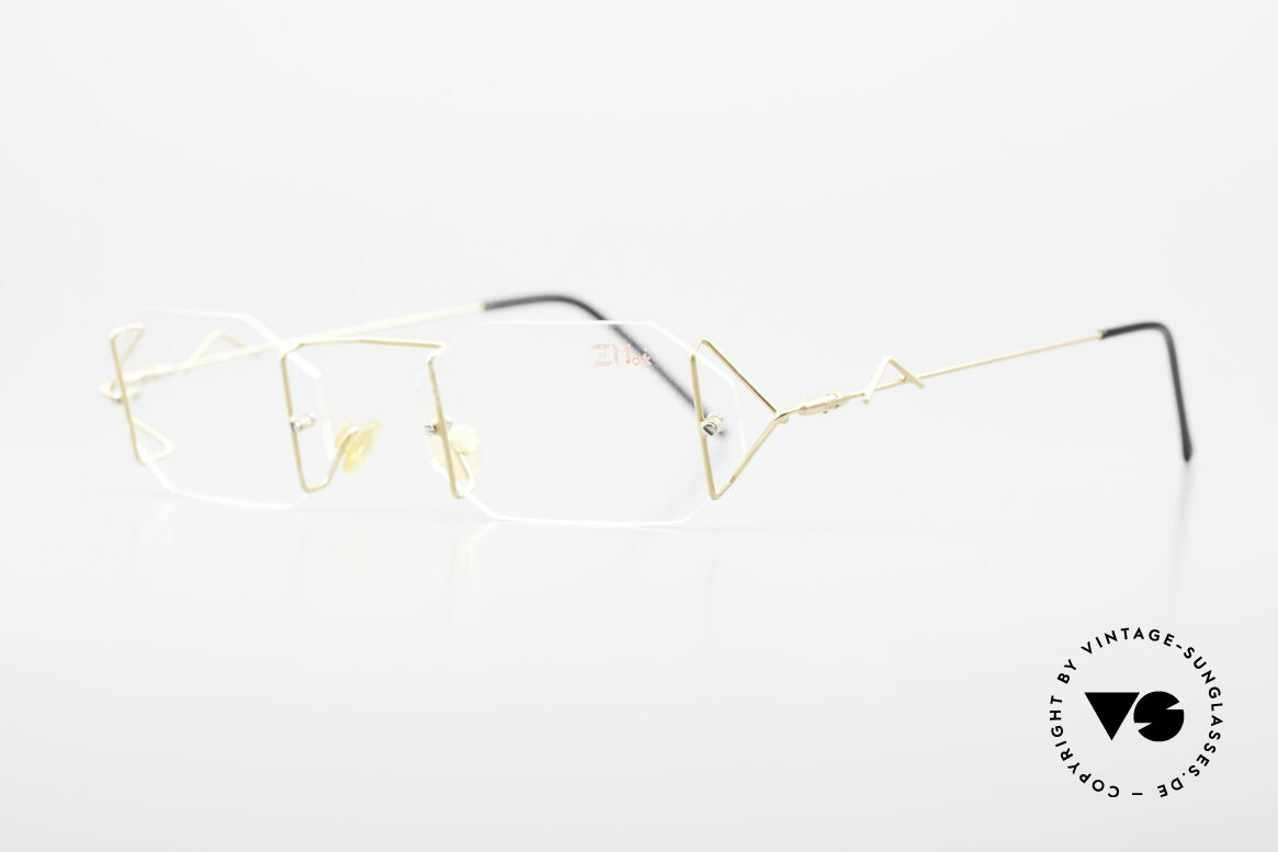 Z Mark 9 Artful 90's Rimless Eyeglasses, an unworn masterpiece with orig. DEMO lenses, Made for Men and Women
