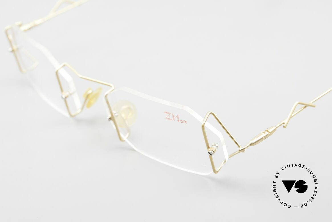 Z Mark 9 Artful 90's Rimless Eyeglasses, demo lenses can be replaced with optical lenses, Made for Men and Women