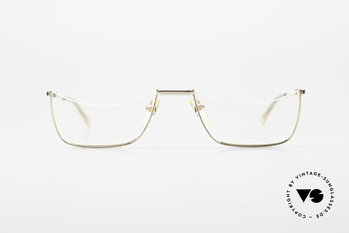 Norville Polymil Antique Reading Glasses 60's, the original demo lenses are glued on the frame, Made for Men