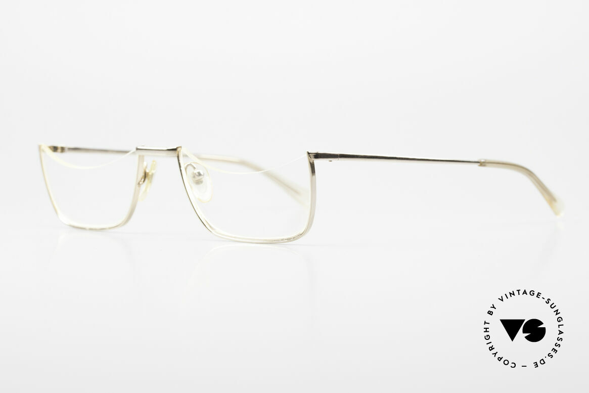 Norville Polymil Antique Reading Glasses 60's, unworn (like all our gold-plated 60's eyeglasses), Made for Men