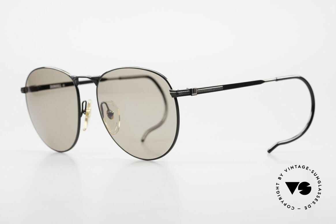 Dunhill 6044 80's Panto Style Sunglasses, perfect fit due to flexible sports (cable) temples, Made for Men