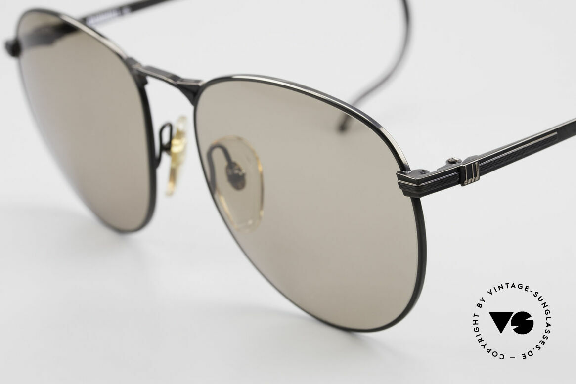 Dunhill 6044 80's Panto Style Sunglasses, high-end quality; BLACK CHROME luxury glasses!, Made for Men
