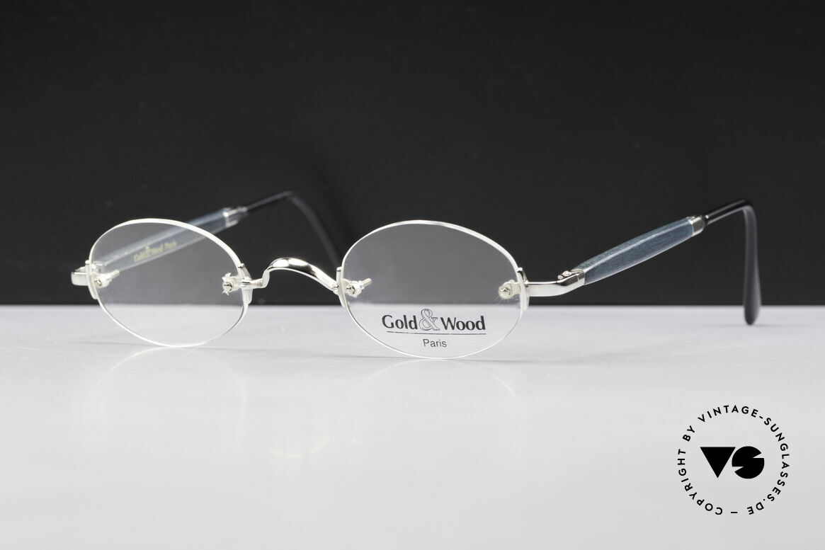 Gold & Wood 338 Luxury Rimless Specs Oval 90's, the credo: elegance, timelessness, craftsmanship, Made for Men and Women