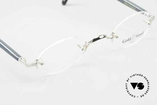 Gold & Wood 338 Luxury Rimless Specs Oval 90's, NO RETRO, but a precious old vintage ORIGINAL, Made for Men and Women
