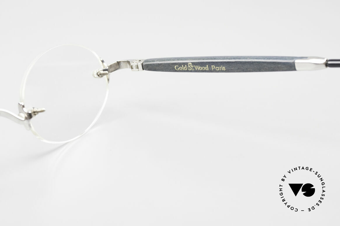Gold & Wood 338 Luxury Rimless Specs Oval 90's, Size: small, Made for Men and Women