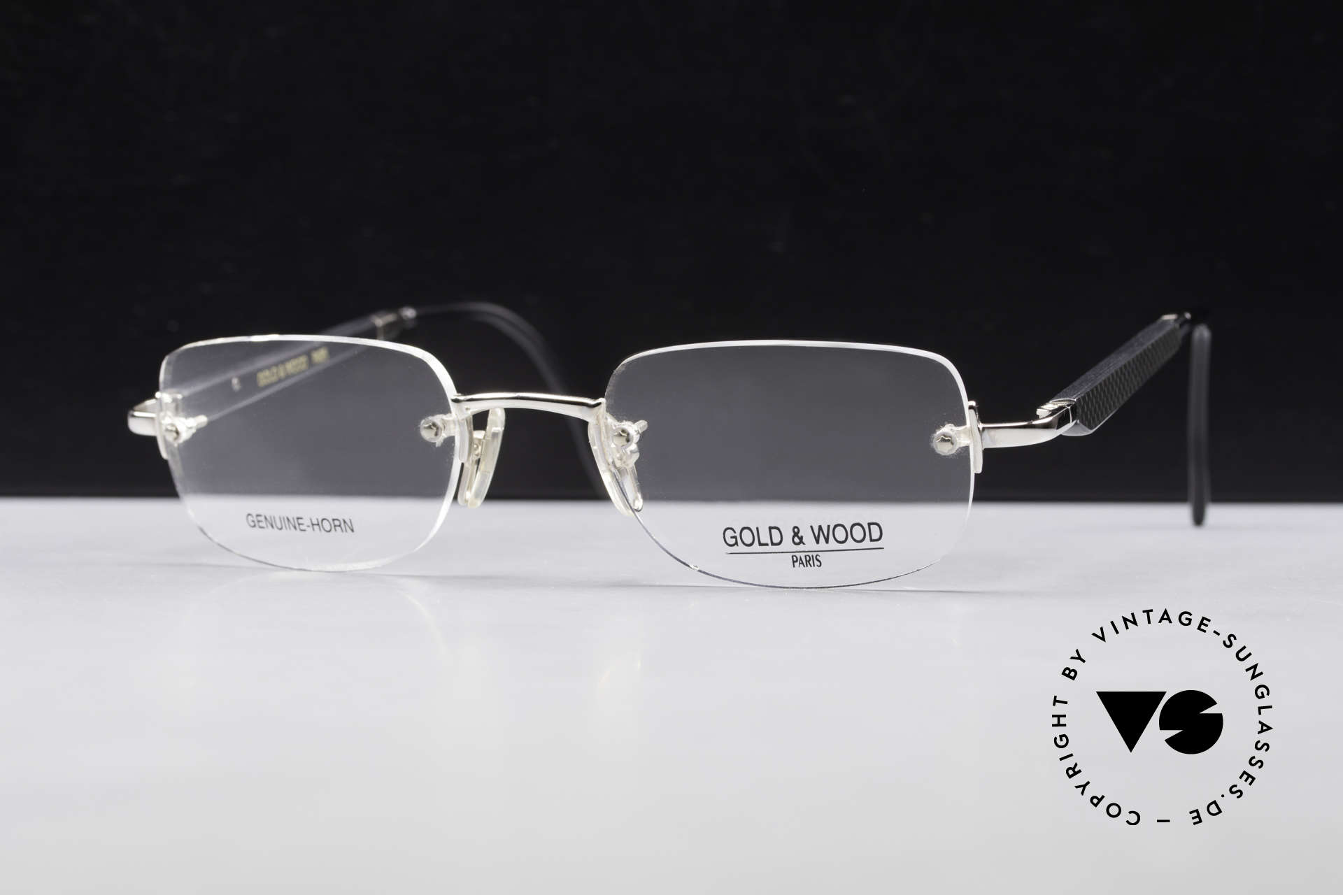 Gold & Wood 332 Genuine Horn Rimless Glasses, the credo: elegance, timelessness, craftsmanship, Made for Men and Women