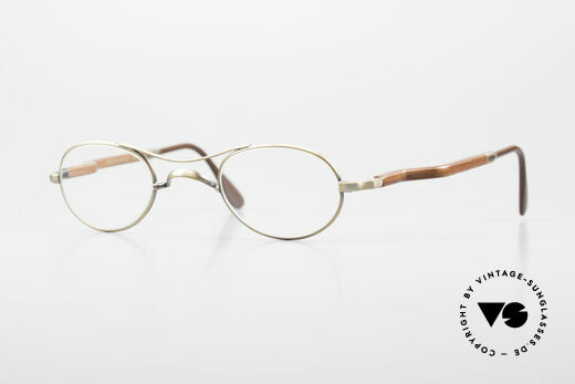 Gold & Wood 352 Luxury Wooden Specs Oval 90's Details