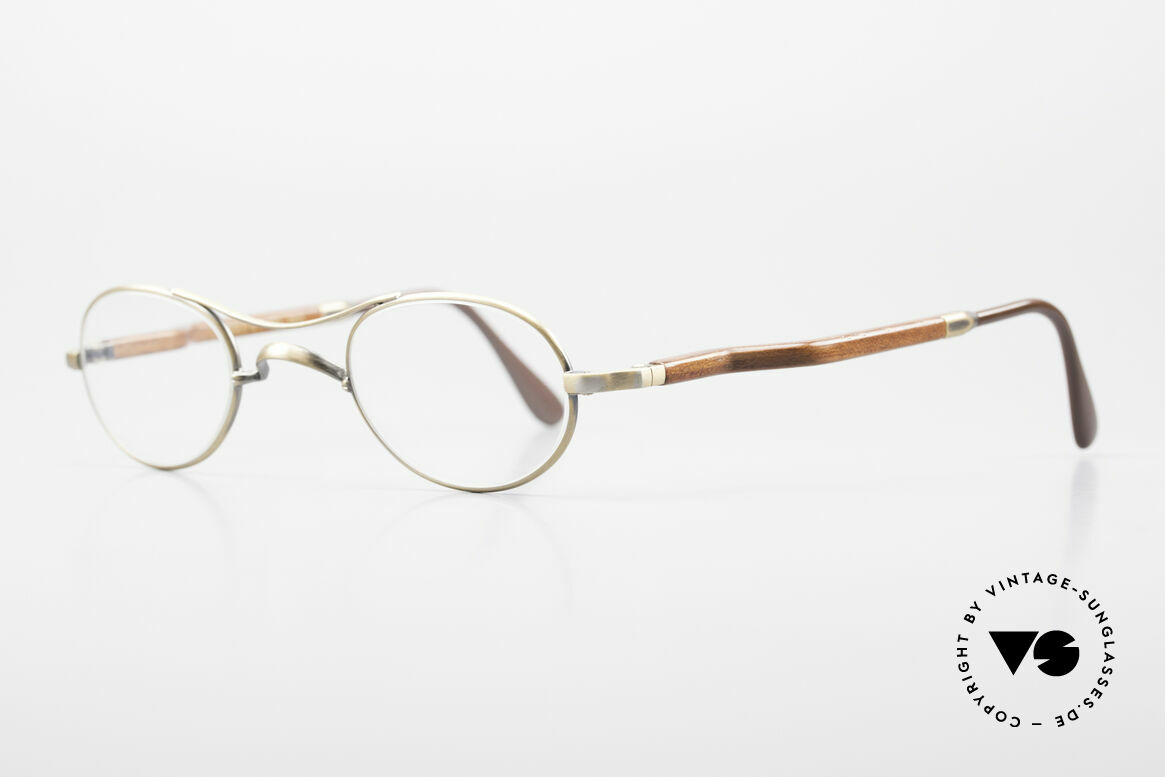 Gold & Wood 352 Luxury Wooden Specs Oval 90's, the credo: elegance, timelessness, craftsmanship, Made for Men and Women