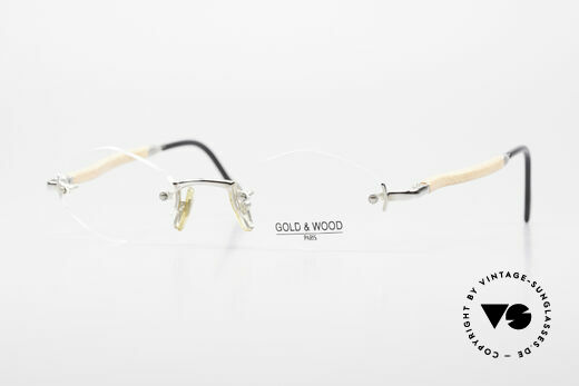 Gold & Wood S02 Luxury Rimless Spectacles Details