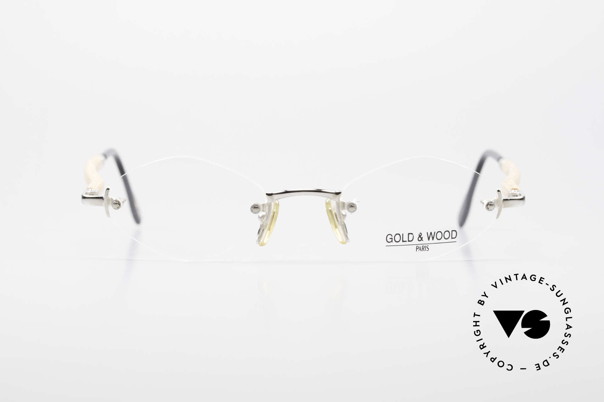 Gold & Wood S02 Luxury Rimless Spectacles, classic, rimless luxury eyeglass-frame from 2001, Made for Men and Women