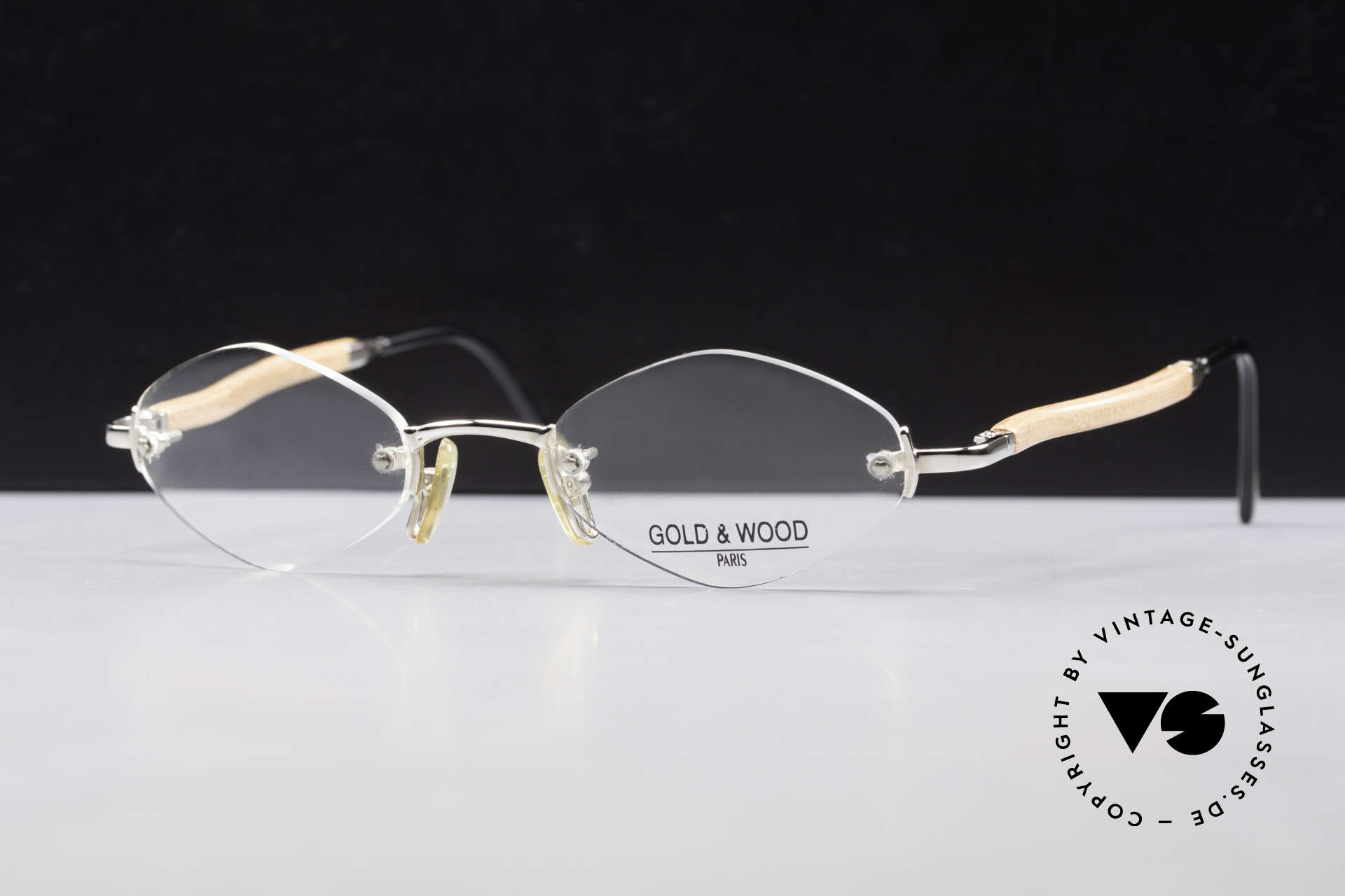 Gold & Wood S02 Luxury Rimless Spectacles, the credo: elegance, timelessness, craftsmanship, Made for Men and Women