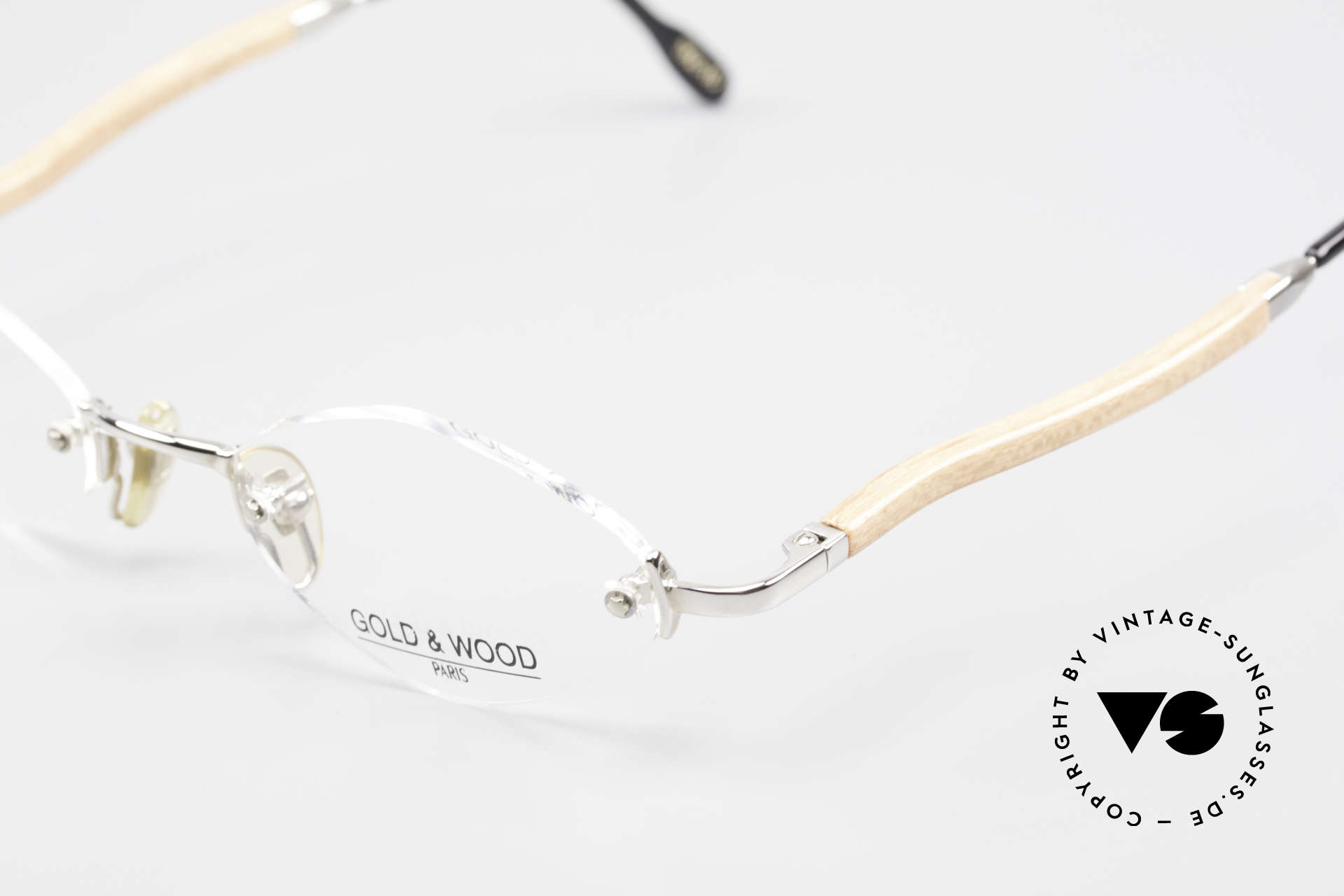 Gold & Wood S02 Luxury Rimless Spectacles, unworn rarity (for all lovers of quality), unique, Made for Men and Women