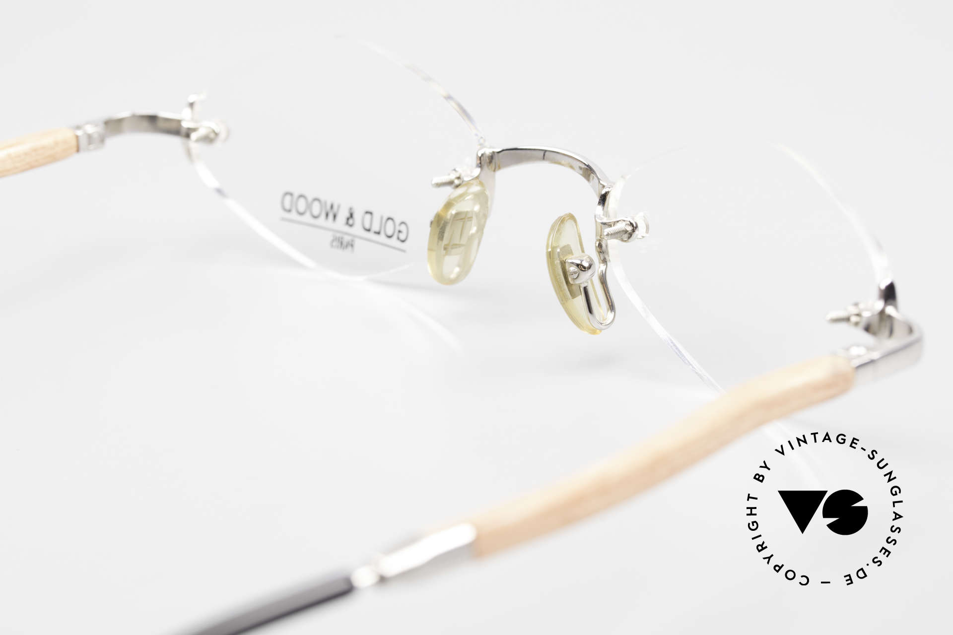 Gold & Wood S02 Luxury Rimless Spectacles, Size: medium, Made for Men and Women