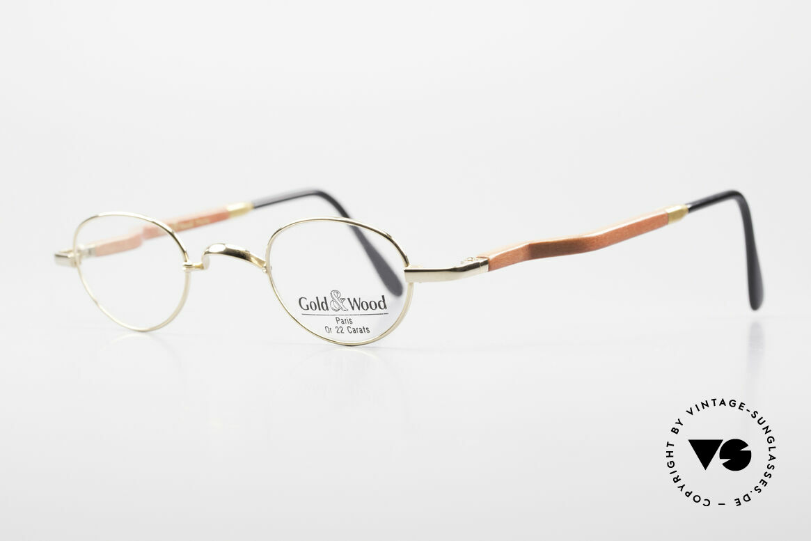 Gold & Wood 326 Wood Frame 22ct Gold Plated, the credo: elegance, timelessness, craftsmanship, Made for Men and Women
