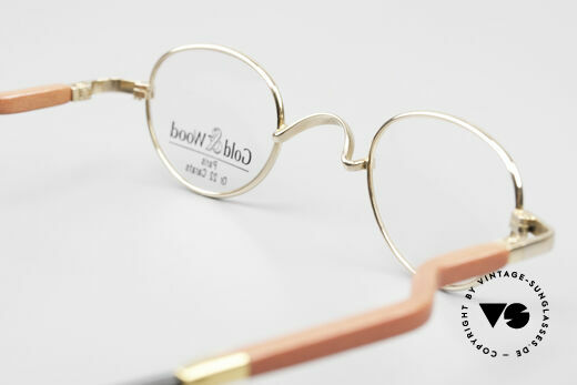 Gold & Wood 326 Wood Frame 22ct Gold Plated, NO RETRO, but a precious old vintage ORIGINAL, Made for Men and Women