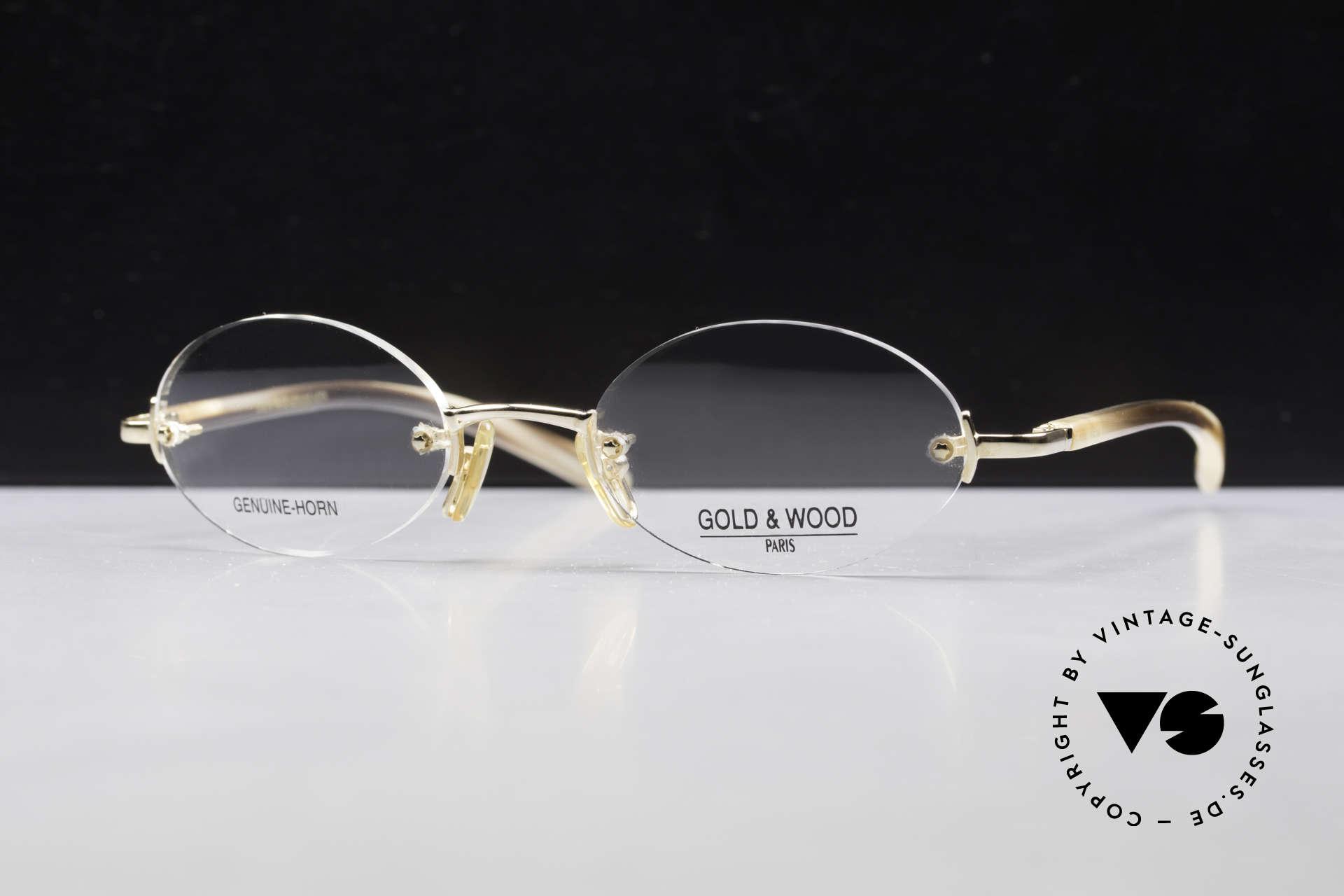Gold & Wood 331 Rimless Genuine Horn Glasses, the credo: elegance, timelessness, craftsmanship, Made for Men and Women