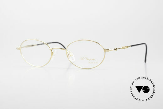 S.T. Dupont D501 Luxury Gold Plated Frame Oval Details