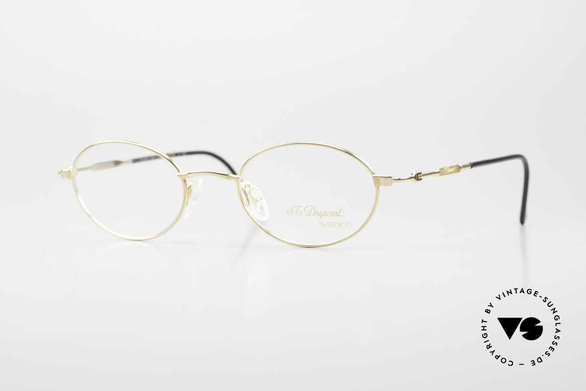 S.T. Dupont D501 Luxury Gold Plated Frame Oval, oval S.T. DUPONT luxury glasses, model D501 from 1999, Made for Men and Women