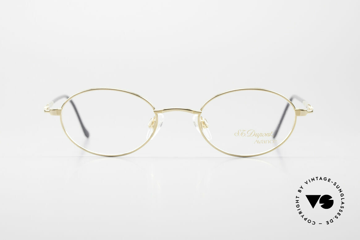 S.T. Dupont D501 Luxury Gold Plated Frame Oval, top-notch craftsmanship (the frame is 23ct gold-plated), Made for Men and Women