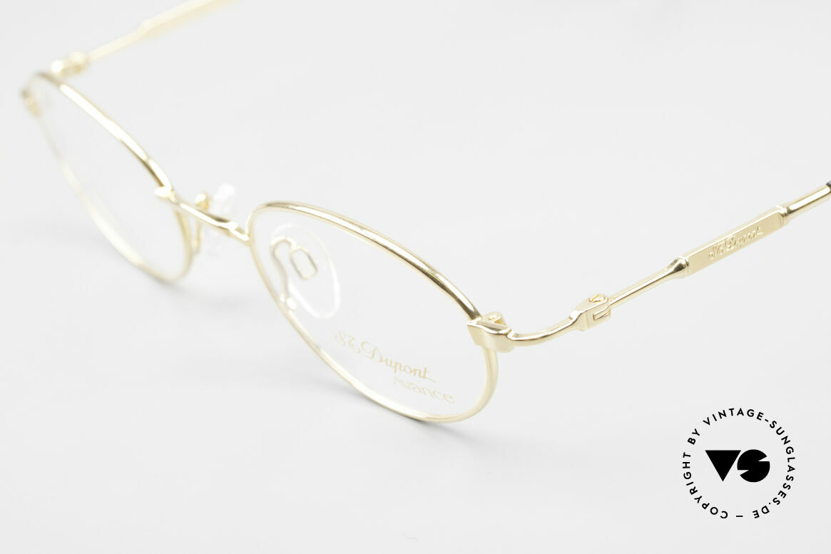 S.T. Dupont D501 Luxury Gold Plated Frame Oval, including cleaning cloth, case and packing by CHOPARD, Made for Men and Women