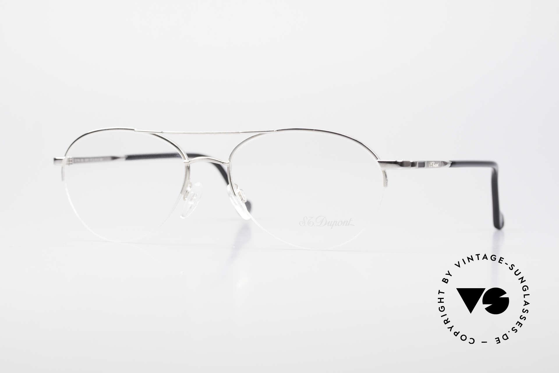 S.T. Dupont D116 Nylor Aviator Glasses 2000's, old S.T. DUPONT luxury glasses, model D116 from 2002, Made for Men