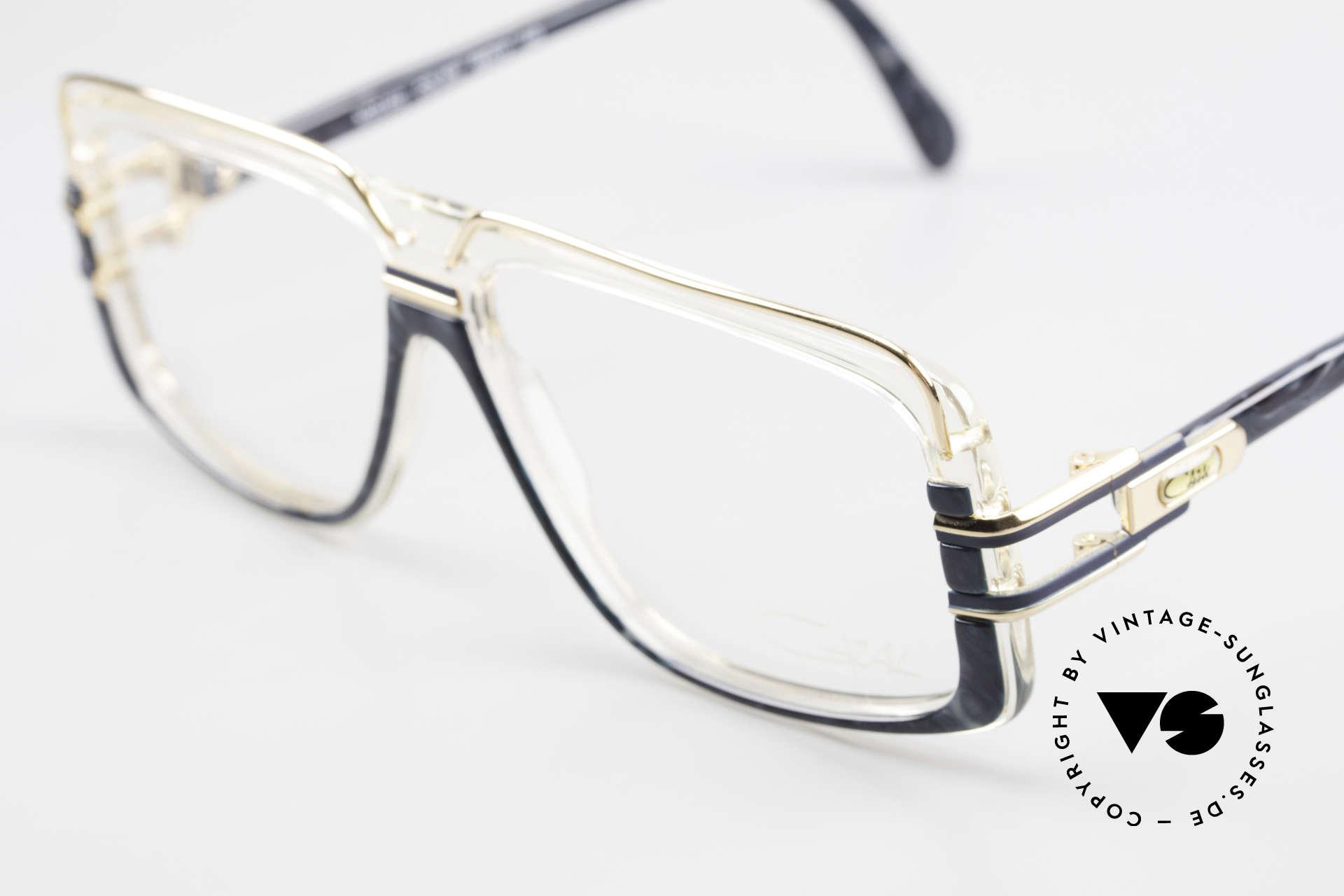Cazal 640 80's Hip Hop Eyeglass Frame, crystal / gray-marbled frame with orig. DEMO lenses, Made for Men