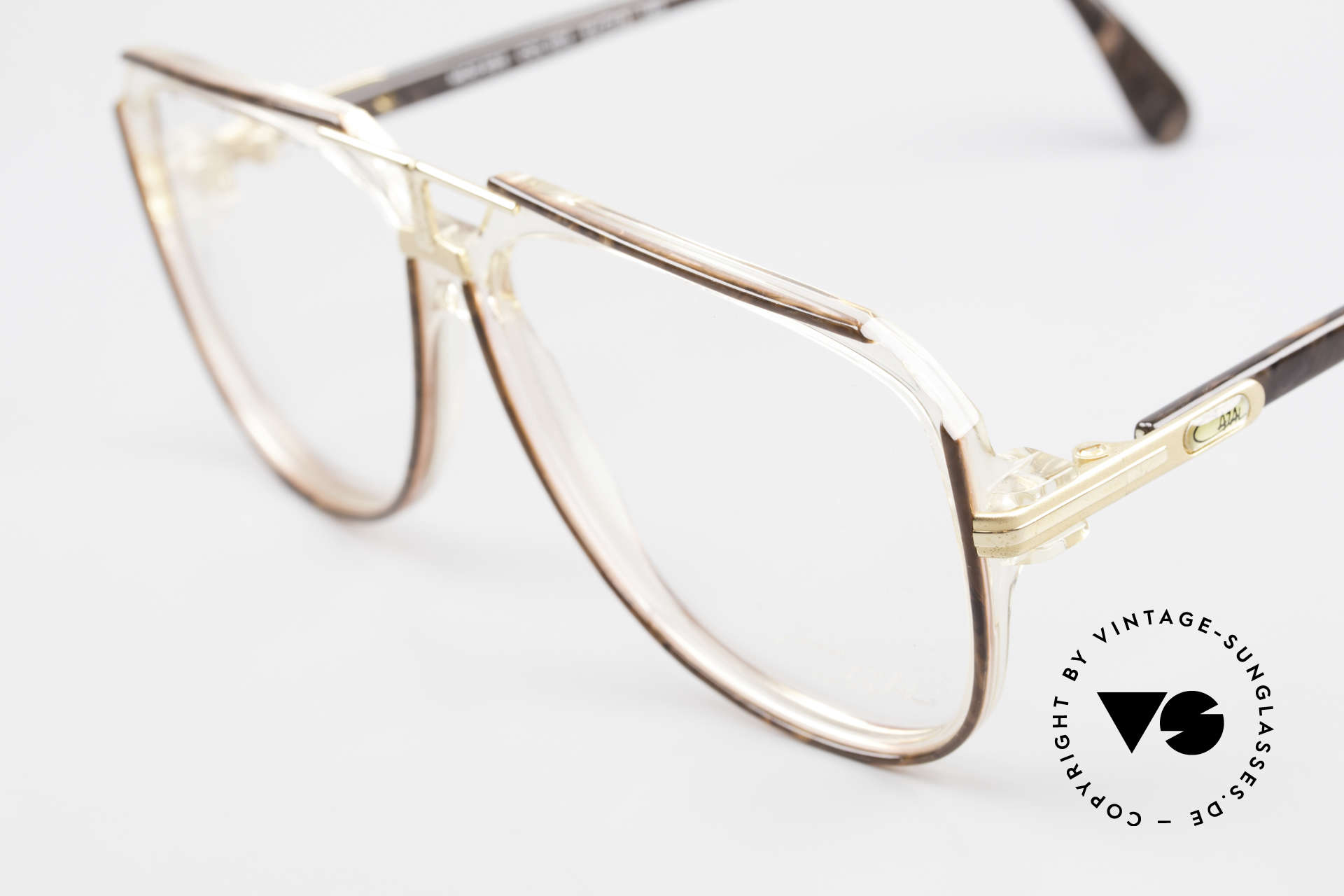 Cazal 636 Old 80's West Germany Cazal, great coloring concept: root wood / crystal, Made for Men
