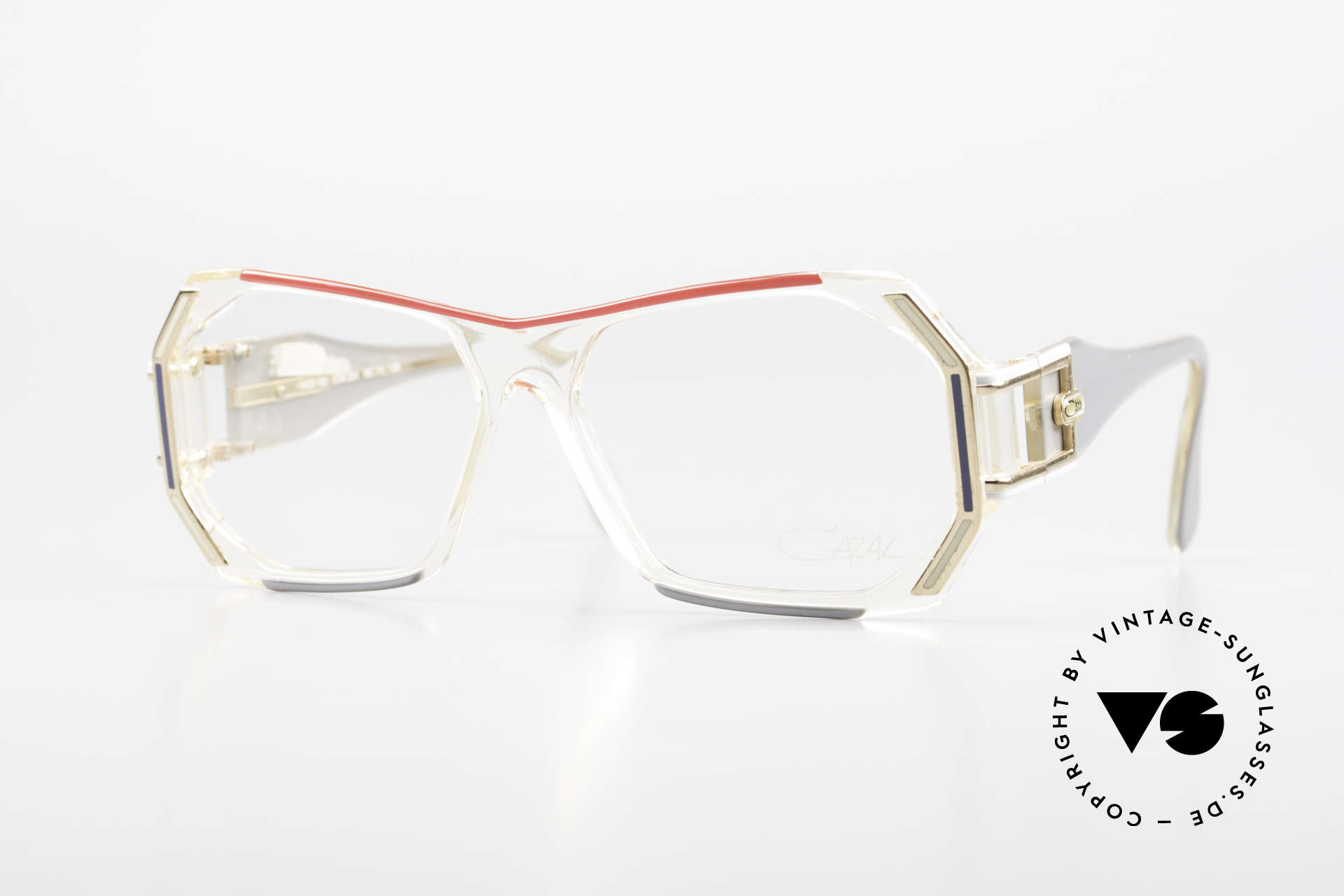 Cazal 182 80's HipHop Old School Frame, vintage 'Old School' Cazal eyeglass-frame from 1984, Made for Men and Women