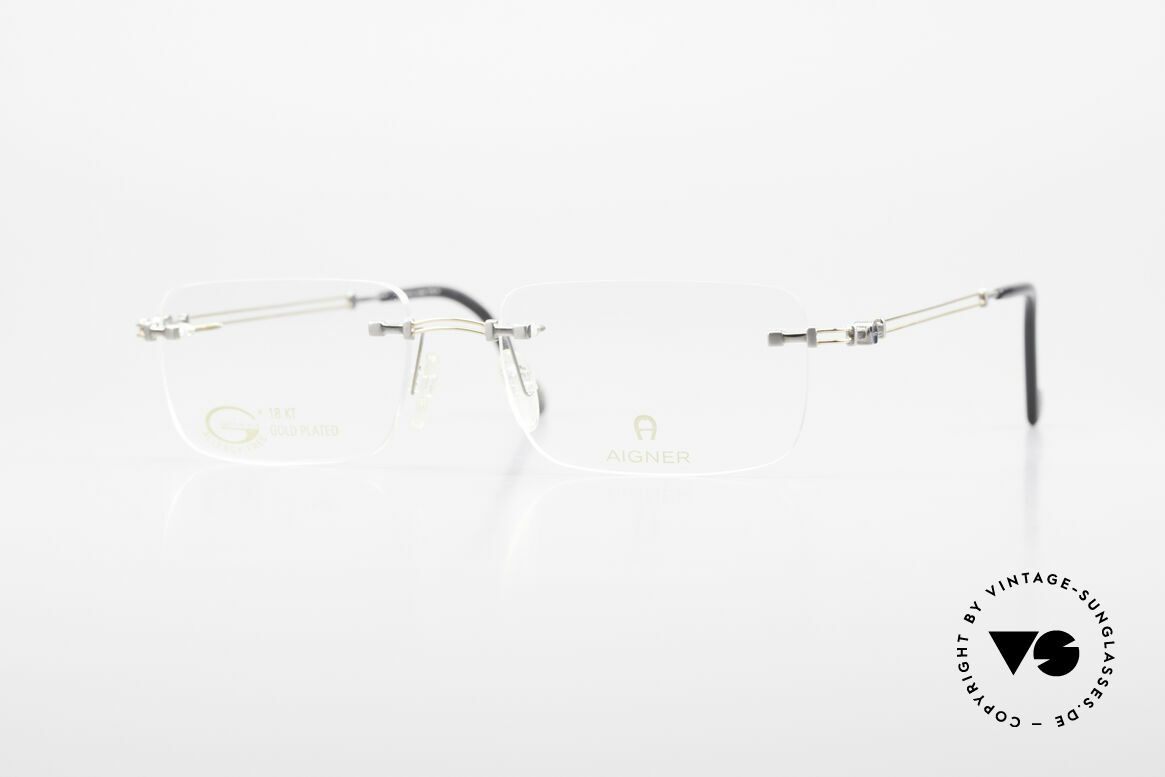 Aigner EA496 Rimless 90's Vintage Glasses, rimless AIGNER vintage glasses, EA496, size 54/18, 140, Made for Men