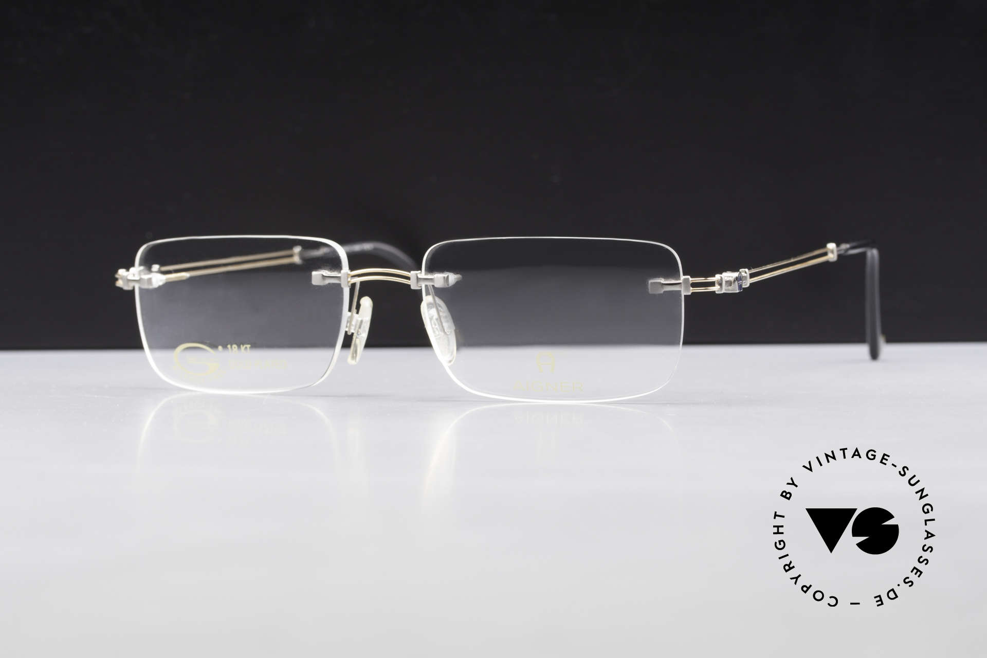 Aigner EA496 Rimless 90's Vintage Glasses, top-notch quality and very pleasant to wear; lightweight, Made for Men