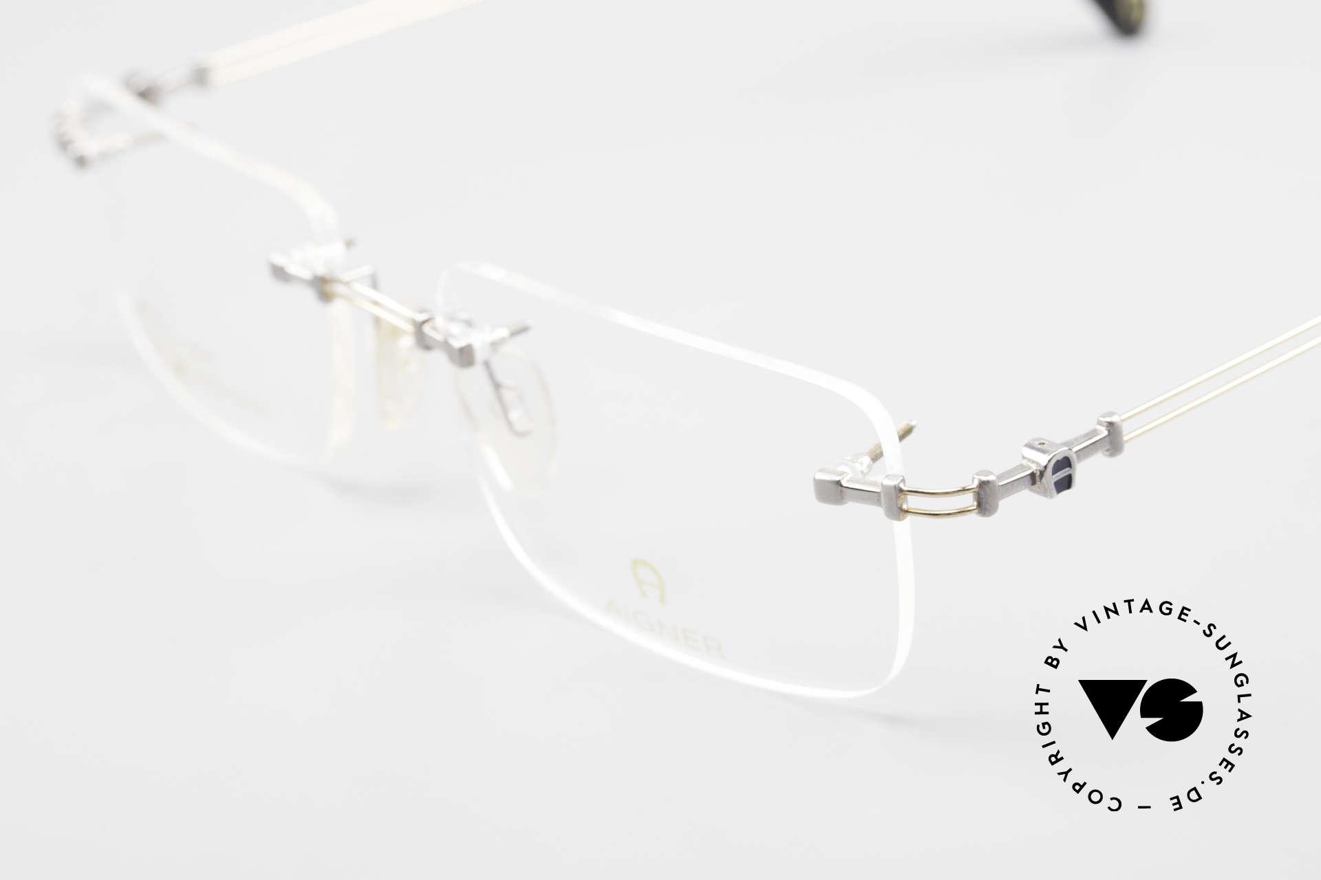 Aigner EA496 Rimless 90's Vintage Glasses, never worn, NOS (like all our rare 90's Aigner eyeglasses), Made for Men