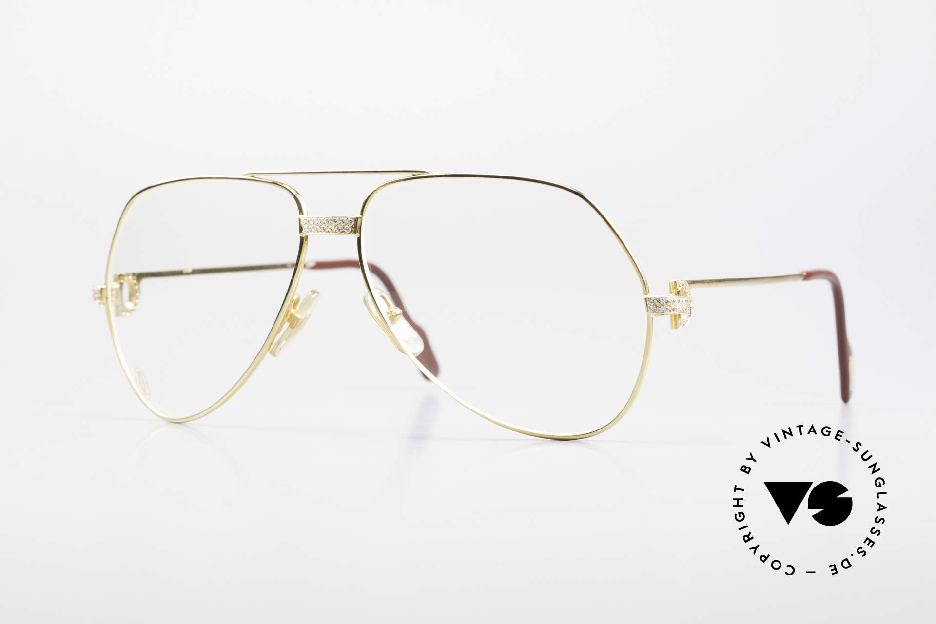 """Cartier Grand Pavage Diamond Glasses Solid Gold, Cartier """"Joaillerie' Collection: Vendôme 'GRAND PAVAGE', Made for Men"""