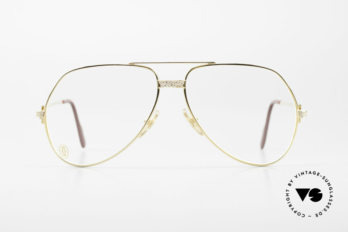 Cartier Grand Pavage Diamond Glasses Solid Gold, 18kt (750) SOLID GOLD frame with 0.86 carat BRILLANTS, Made for Men