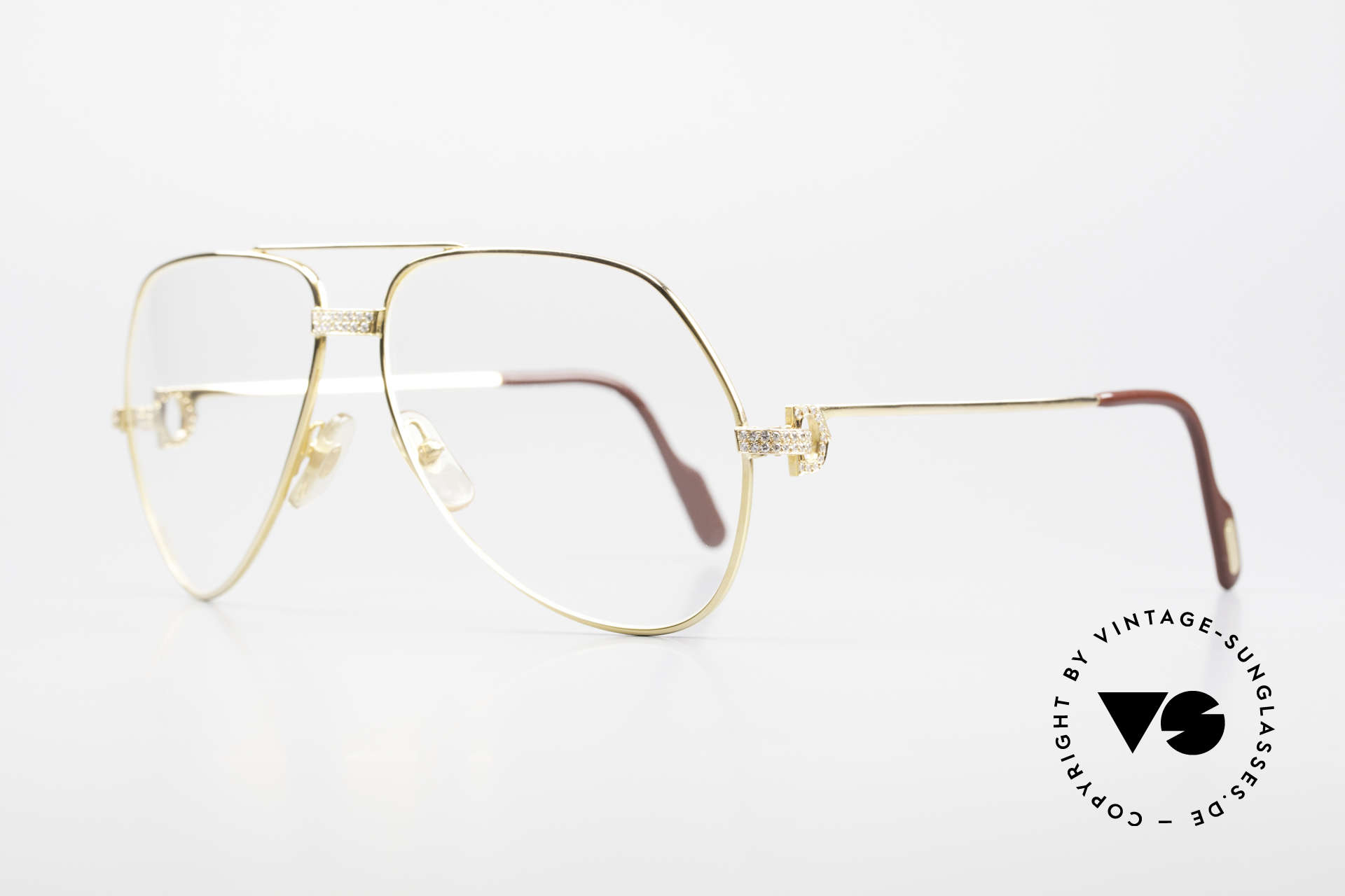Cartier Grand Pavage Diamond Glasses Solid Gold, Grand Pavage was only made upon request & prepayment, Made for Men
