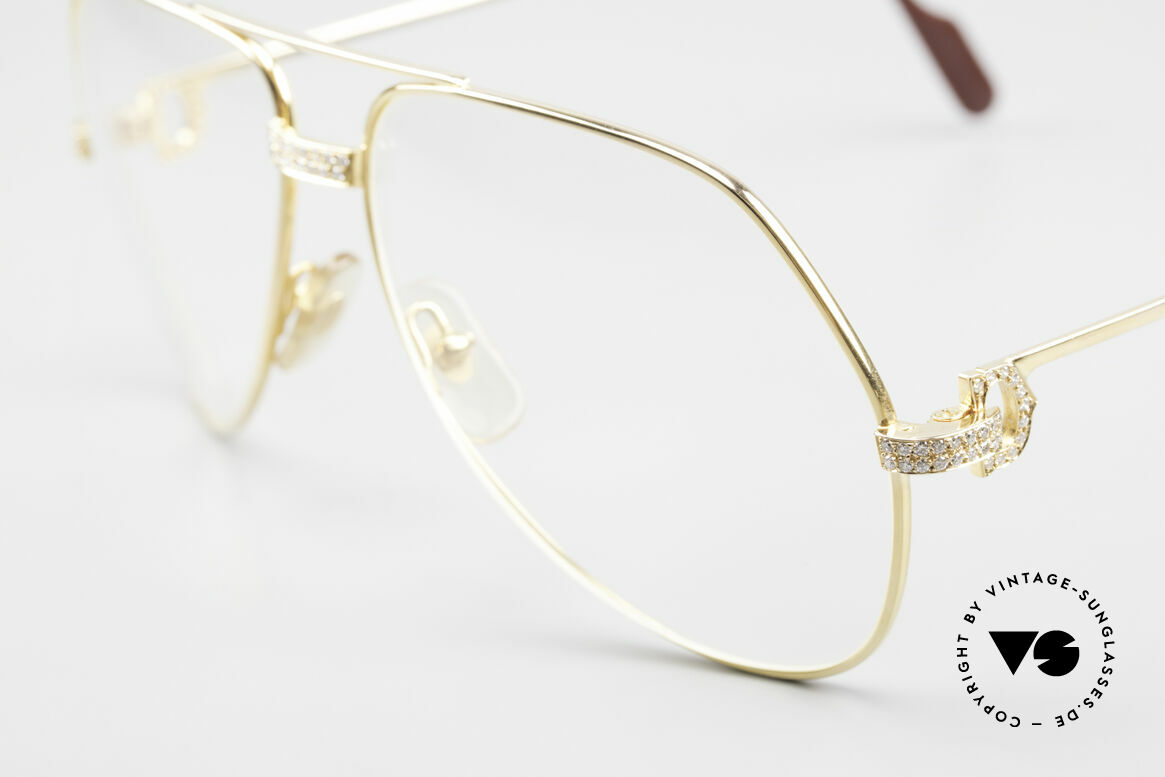 Cartier Grand Pavage Diamond Glasses Solid Gold, basic price was 25.300 DM (dependent on the gold price), Made for Men