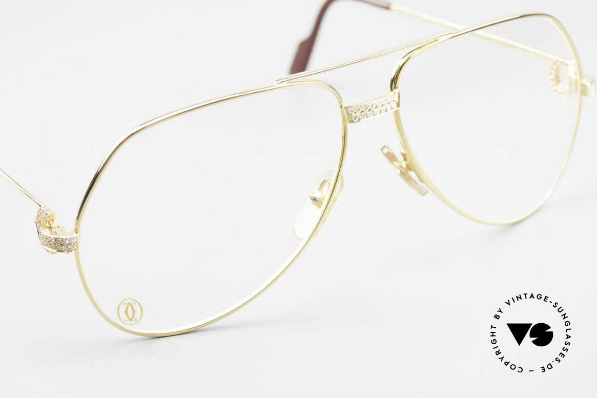Cartier Grand Pavage Diamond Glasses Solid Gold, LUXURY JEWELRY vintage eyeglasses (25 grams of GOLD), Made for Men