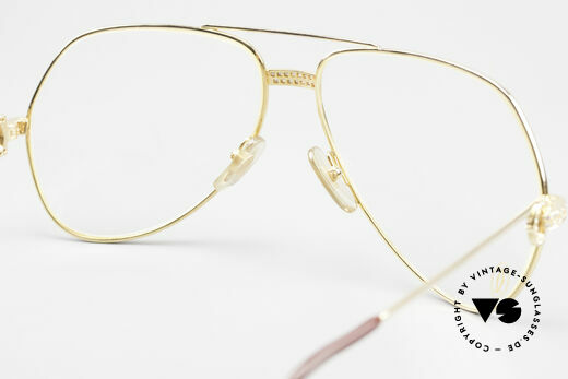 Cartier Grand Pavage Diamond Glasses Solid Gold, a precious, unworn ORIGINAL in LARGE size 62-14, 140, Made for Men