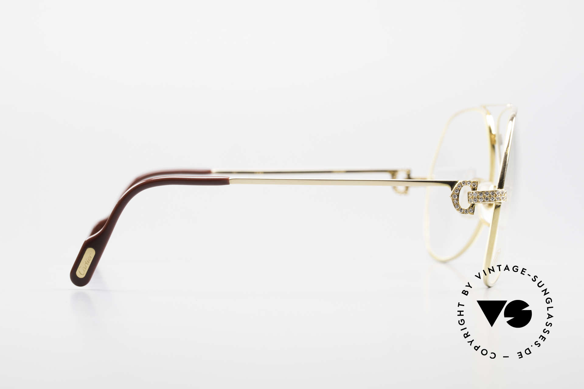 Cartier Grand Pavage Diamond Glasses Solid Gold, this one-time luxury Cartier model is !!NOT FOR SALE!!, Made for Men