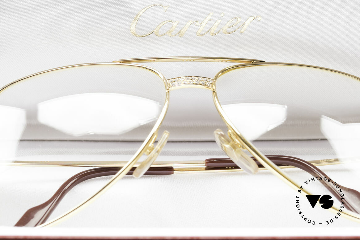 Cartier Grand Pavage Diamond Glasses Solid Gold, Size: large, Made for Men