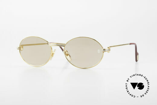 Cartier Saint Honore - S Oval 90's Luxury Sunglasses Details
