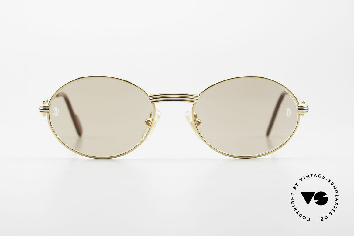 Cartier Saint Honore - S Oval 90's Luxury Sunglasses, precious and timeless design, in S size 49°18, 130, Made for Men and Women